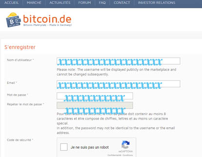 bitcoin.de Inscription