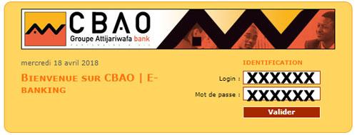 Connexion cbao e-banking