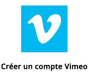 Créer un compte Vimeo.com