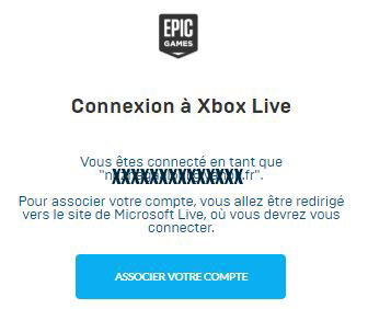 connexion xbox epic games