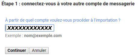 importer mails sur un compte gmail