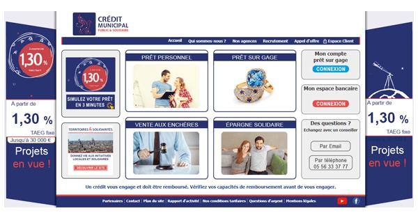 Crédit municipal en ligne