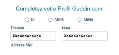 Créer un compte gaddin