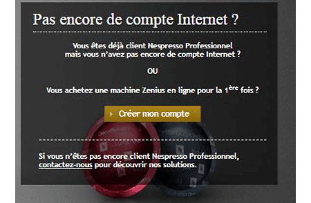 S'inscrire compte Nespresso.com