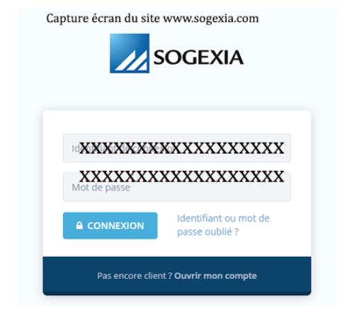 Se connecter à sogexia espace client
