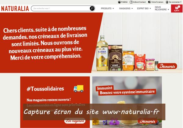 naturalia.fr : site du magasin