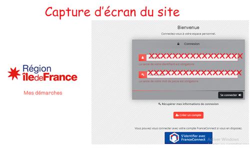 Se connecter sur mesdemarches.iledefrance.fr
