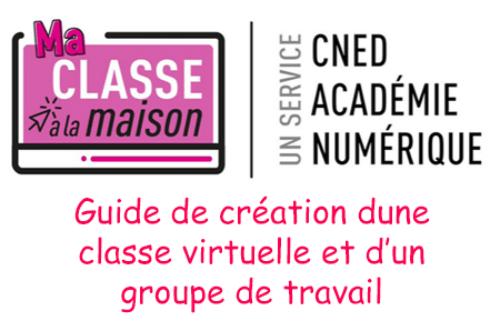 Créer une classe virtuelle Cned