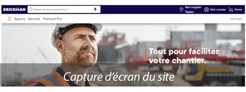 Créer un compte sur bricoman.fr