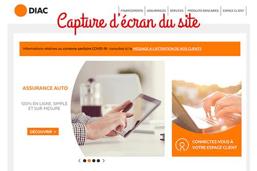 Créer un compte www.diac.fr