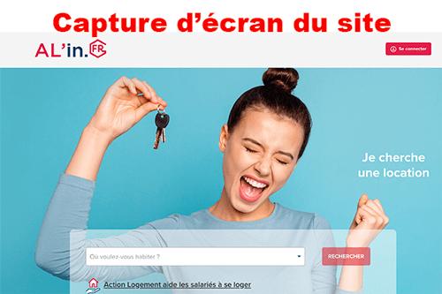 Créer un compte sur www.al-in.fr